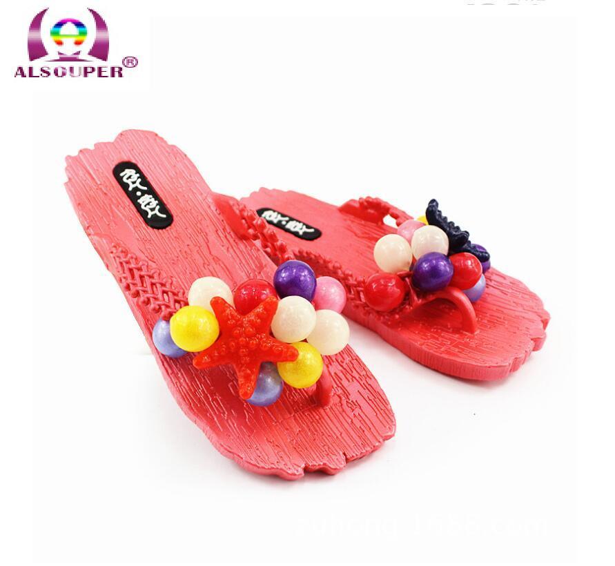 Summer grape PVC blowing bathroom flip flops Home Furnishing female plastic anti-skid slippers beach      X176