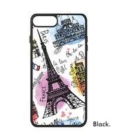 France Paris Tour Eiffel Hot Air Ballon drapeau National Carte Bleu rouge Téléphone Cas pour iPhone X 7/8 Plus Cas Phonecase Couverture
