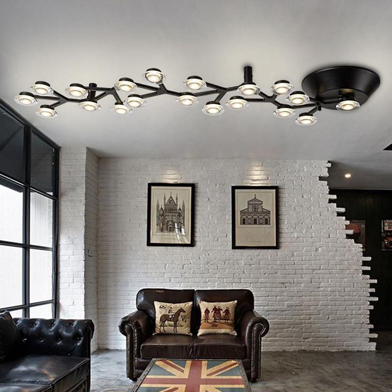 Modern led luzes de teto luminárias para sala de estar quarto lâmpada com material é de Alumínio lâmpada do teto de acrílico - 5