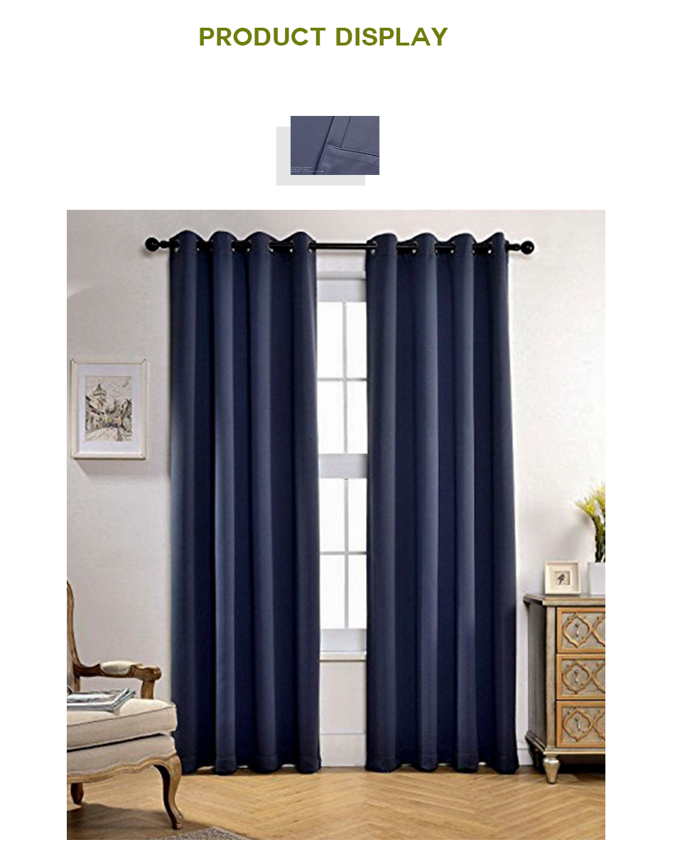 living room draperies swivel rocking chairs for aqjd blackout curtains solid color window treatment darkening thermal insulated in bedroom