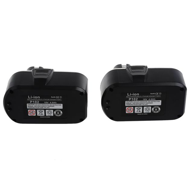 US $114 28 |2x 18V 4 0AH Li ion Battery for RYOBI One Plus RB18L25 RB18L50  P108 P107 P104-in Rechargeable Batteries from Consumer Electronics on