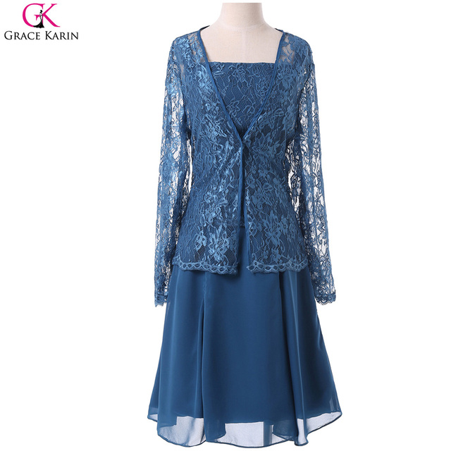 Mother Of The Bride Dresses With Jacket Grace Karin Chiffon Lace ...
