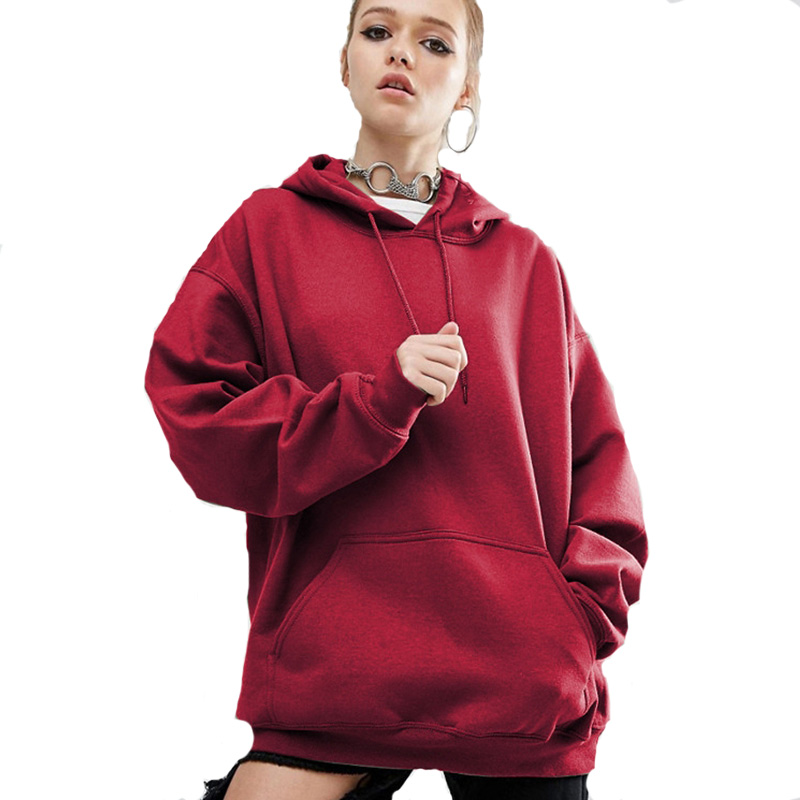 Rimiut Oversized 2017 Autumn winter  Womens Long Sleeve Hooded Loose Casual Warm Hoodies Sweatshirt 4 Colors Plus Size S-5XL