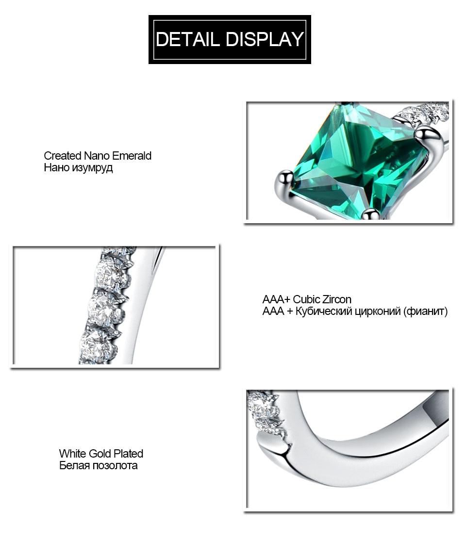 HTB1zSEzlbZnBKNjSZFKq6AGOVXaD UMCHO Green Emerald Gemstone Rings for Women Genuine 925 Sterling Silver Fashion May Birthstone Ring Romantic Gift Fine Jewelry