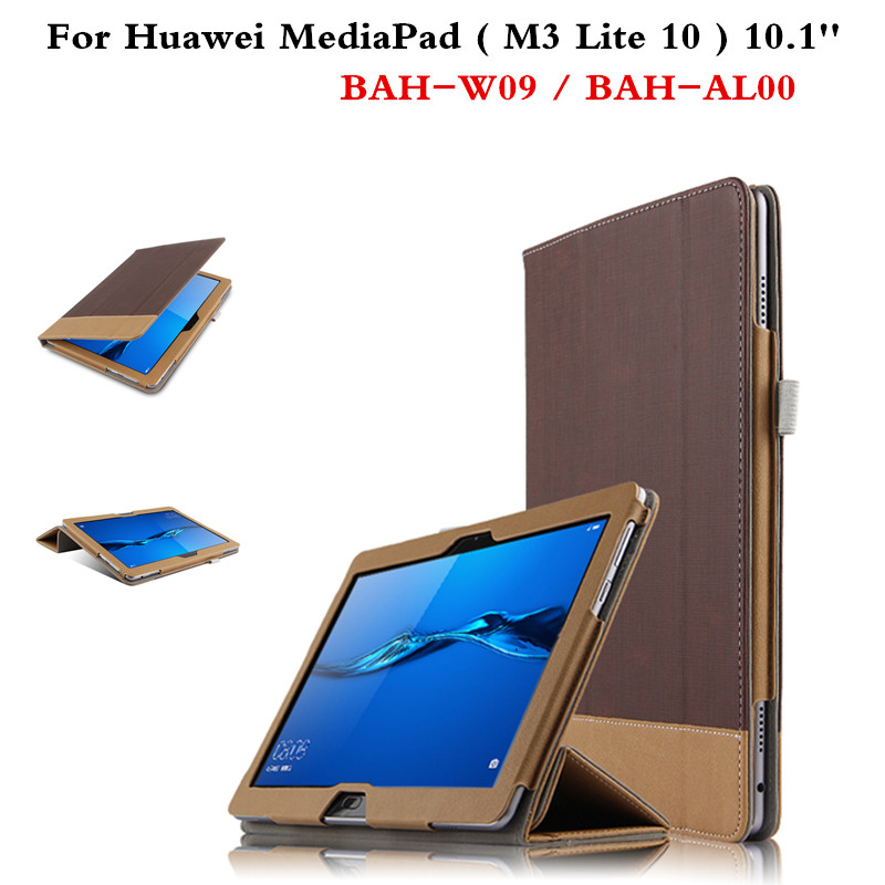 Luxury PU Leahter Magnetic Case Skin Book Cover For Huawei MediaPad M3 Lite 10 BAH-W09 BAH-AL00 10.1'' Tablet Business Style cover case for huawei mediapad m3 youth lite 8 cpn w09 cpn al00 8 tablet protective cover skin free stylus free film