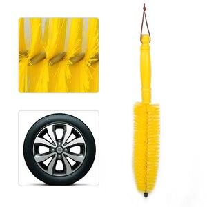 Image 1 - Beler 새로운 1Pc 옐로우 휠 타이어 타이어 림 허브 롱 브러시 스크럽 핸들 클리너 자동차 자동차 오토바이에 대한 도구를 세척