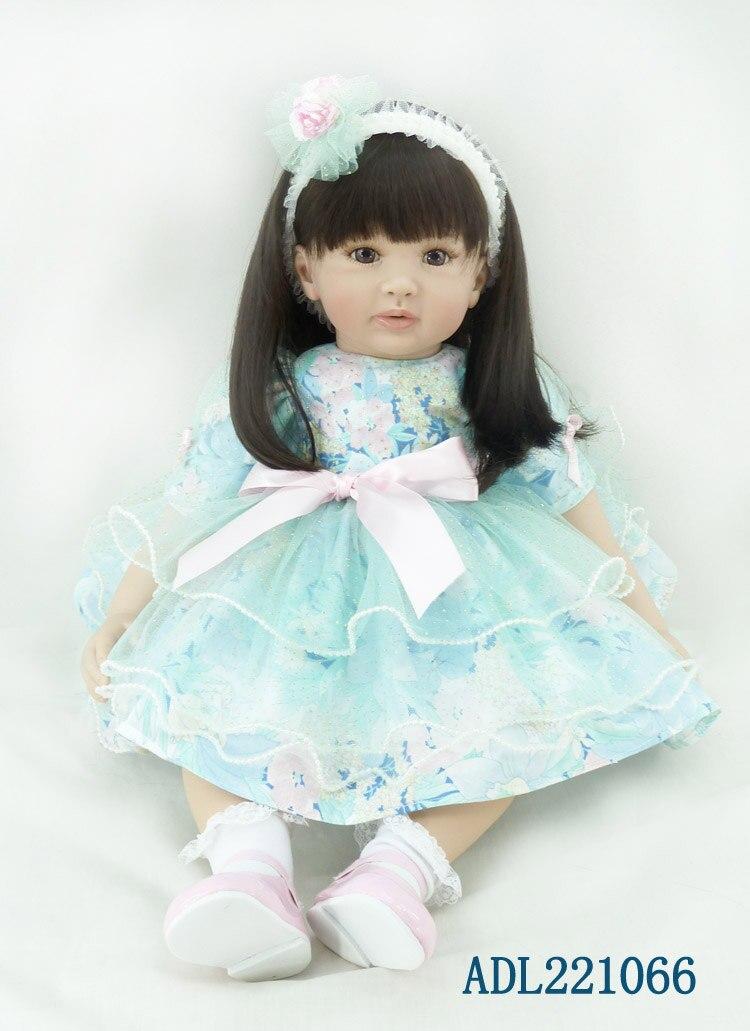 Популярные силиконовые куклы для новорожденных и малышей сопровождать Спящая Реалистичные милый принцесса малышей Кукла Малыш Рождество ...