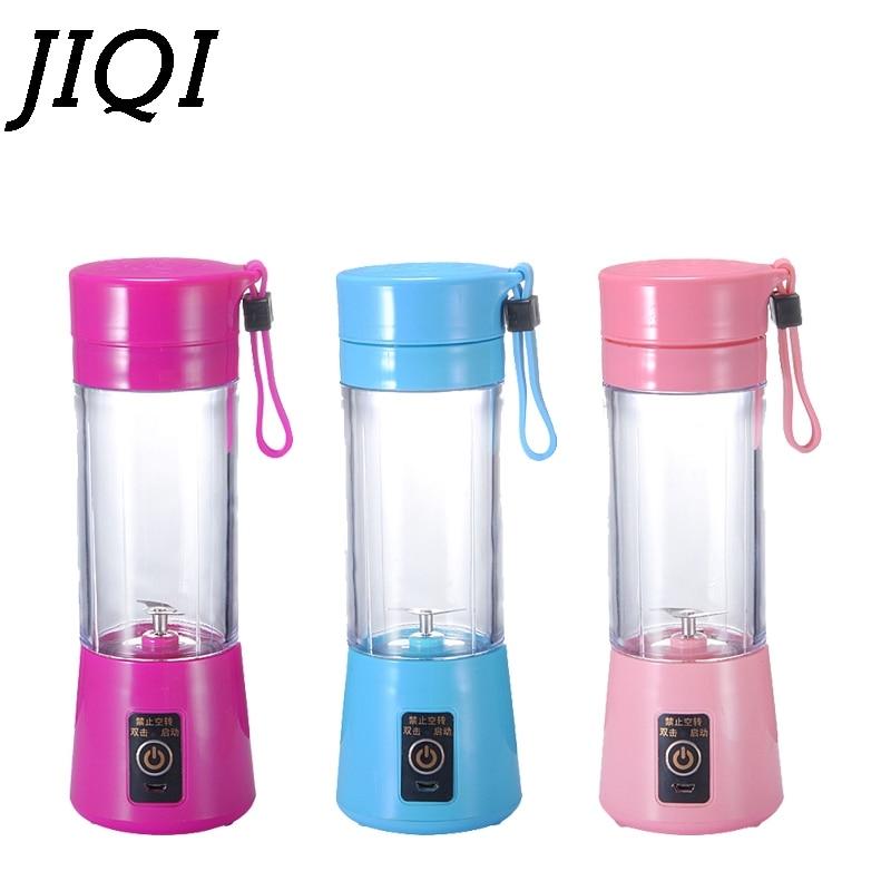 JIQI USB Rechargeable Electric Juicer Bottle Juice Citrus Blender Vegetables Fruit Milkshake Smoothie Squeezers USB  Juicer