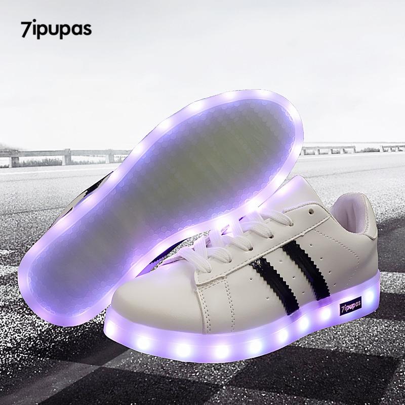 7ipupas 11 Colors Unisex Led Shoes Fashion Couple Led Luminous Sneakers Zapatos Hombre Led Light Shoe Kids Boy Girl Glowing Shoe