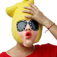 New Halloween latex mask party party funny Latati quack cosplay props