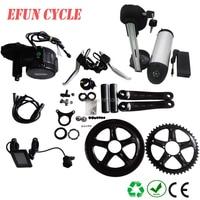 Free shipping DIY ebike conversion kit Bafang BBS01 36V 350W mid motor kits with 36V 13Ah USB bottle down tube Li ion battery