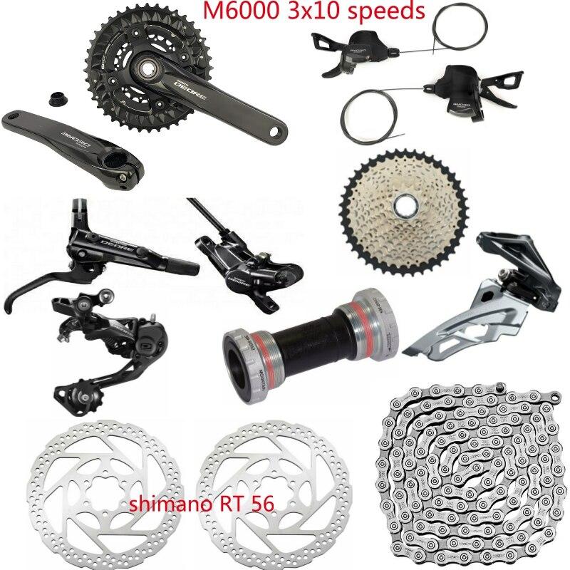 Shimano DEORE M6000 9 PCS 3X10 2x10 Speed Groupset HG500 10 11 42T M6000 Rear Derailleur