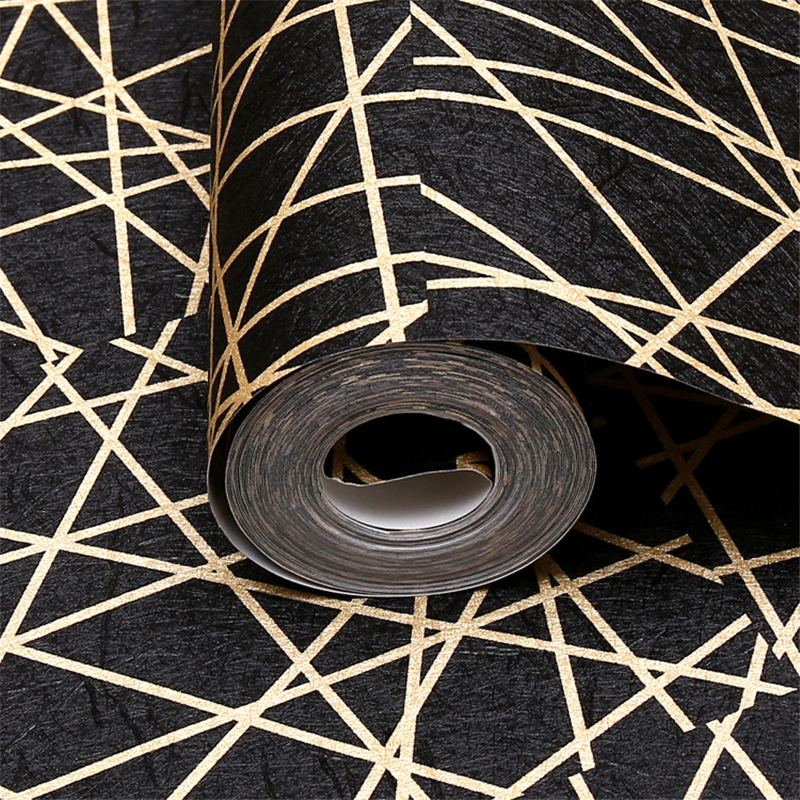 beibehang wallpaper Abstract black lines irregular pattern wallpaper living room TV background wall bar KTV bar wallpaper цена