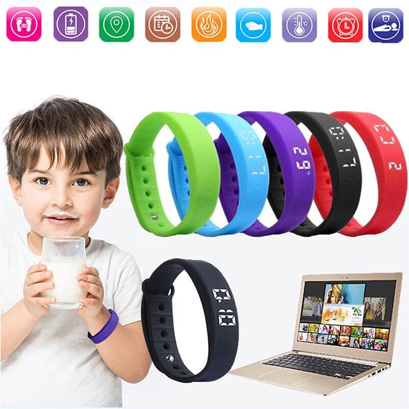 SOONHUA TW6 Waterproof Smart Bracelet Pedometer Calorie Sleep Monitor USB Charging Sports Wristband Fitness Tracker Smart Band