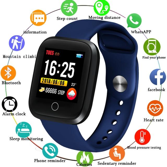 LIGE Intelligente Del Braccialetto Degli Uomini di Forma Fisica di Inseguimento di Pressione Sanguigna Monitor di Frequenza Cardiaca Contapassi IP68 Impermeabile di Sport Intelligente Wristband + Box