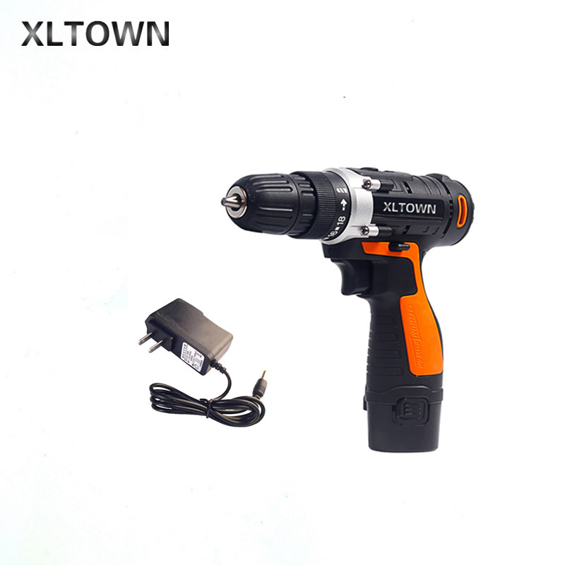 XLTOWN 12V cordless electric drill lithium battery rechargeable multi-function electric screwdriver household power tools 12v cordless electric drill household mobile power supply lithium ion battery screwdriver cordless electric drill power tools