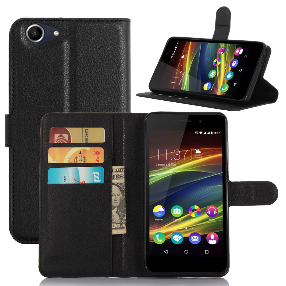 Luxury New Fashion View Window Smart Cover for Wiko Slide 2 Flip Leather Case Stand Cover Mobile Phone Bag Case for Wiko Slide 2 visa