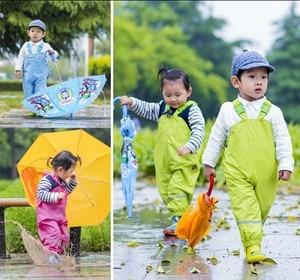Image 3 - الأطفال السراويل المطر مقاوم للماء جديد 2018 ماركة وزرة مقاوم للماء 1 7Yrs طفل الفتيان الفتيات وزرة موضة الاطفال وزرة