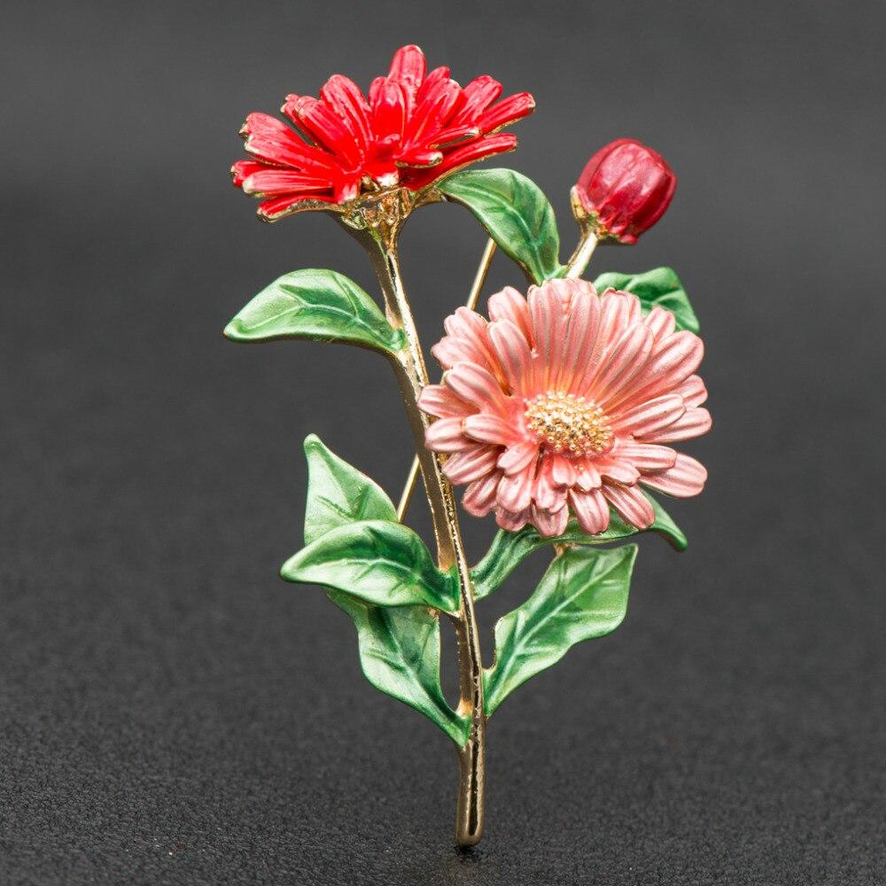 Fashion beautiful enamel daisy chrysanthemum flower brooch pin fashion beautiful enamel daisy chrysanthemum flower brooch pin broach for woman jewelry hb058 izmirmasajfo