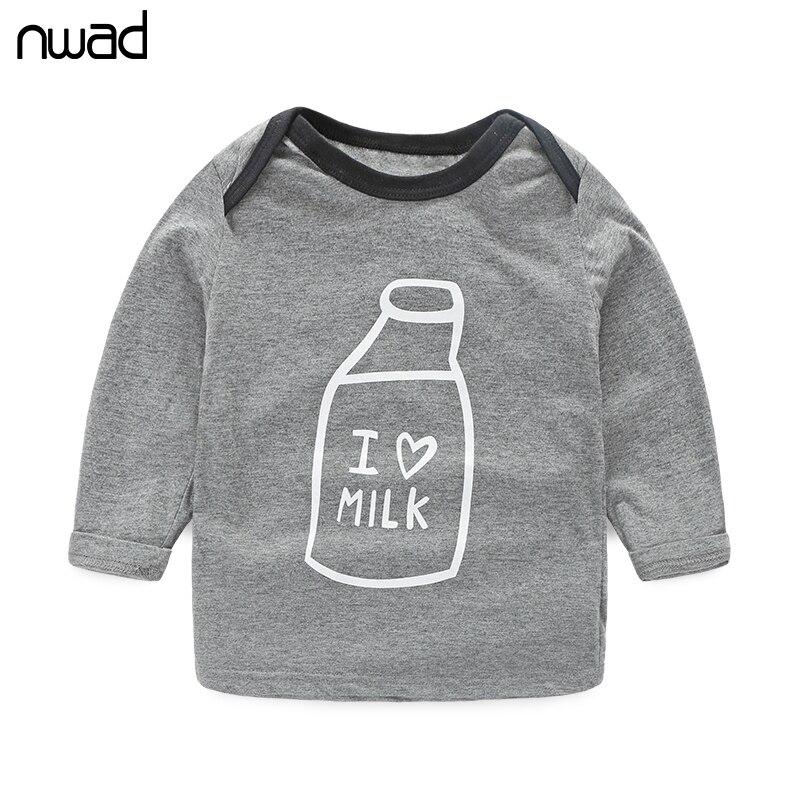 3 Sztuk / zestaw Wiosna Jesień Noworodka Odzież Moda Butelka Mleka - Odzież dla niemowląt - Zdjęcie 2