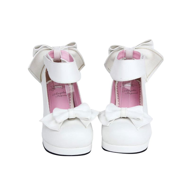 Princess sweet lolita shoes In the spring and Autumn period the sweet LOLITA shoes with bow maid princess sweet shoes pu9860A сабо sweet shoes sweet shoes sw010awtrl49