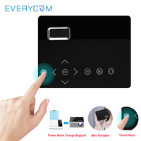 Everycom T200 Mini Projector Touch Keys HDMI USB AV Video Game Portable Projector LED Beamer For Camping Travel Home Theater