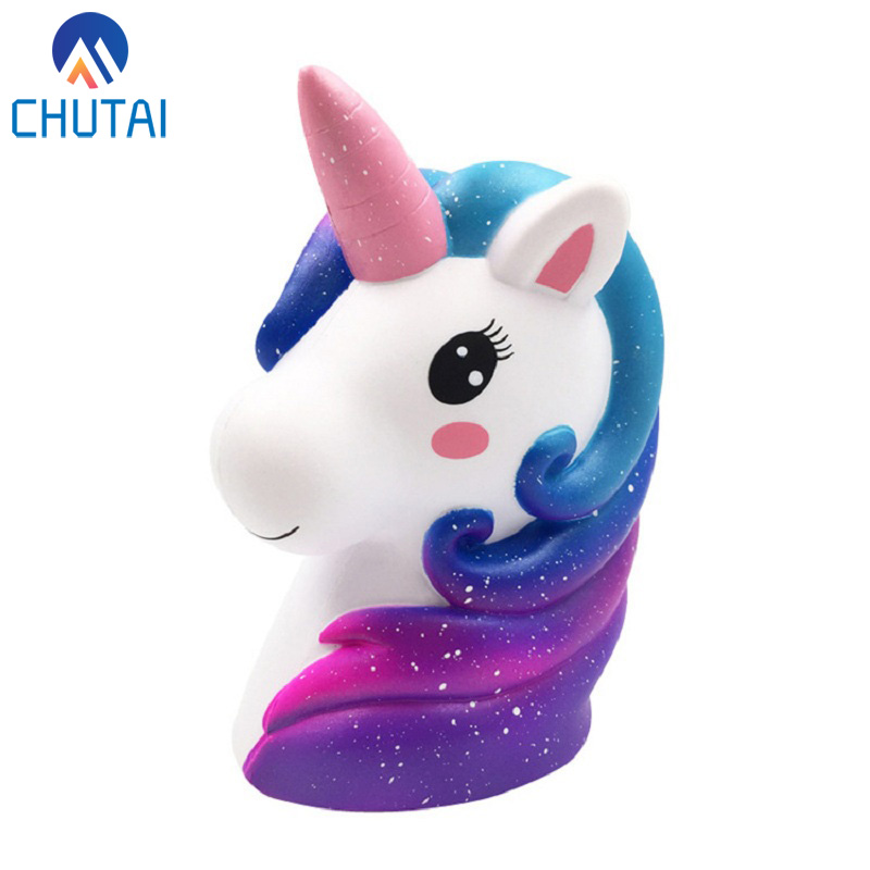 Jumbo Colorful Unicorn Head Squishy Soft Slow Rising Scented Squishies Kids Grownups Stress Relief Squeeze Toys Toy 13*11*7.5CM