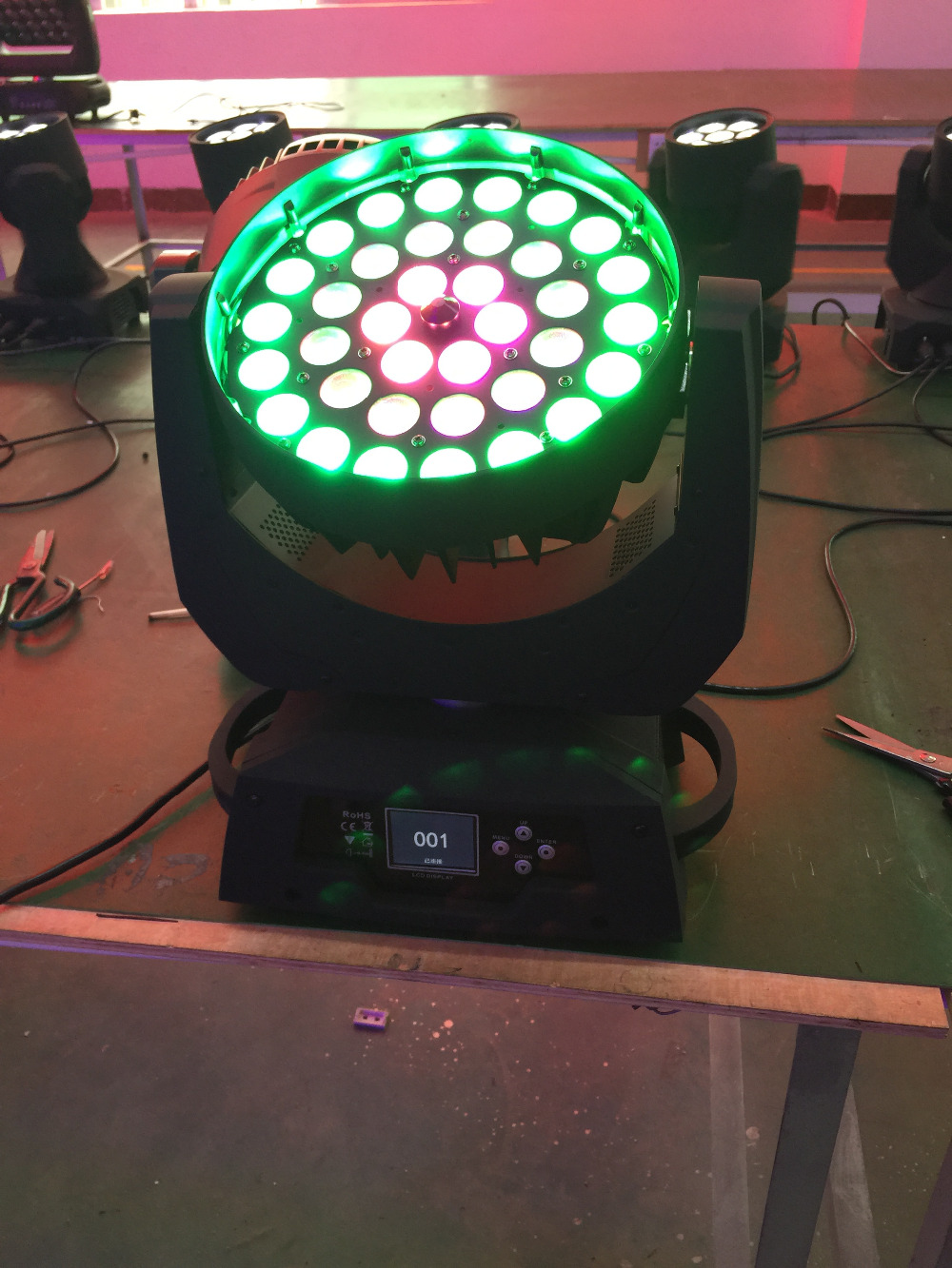 4X 36*18w led moving head light with 3 Ring Control Circle effect RGBWY+UV 6in1 zoom wash light night club disco lighting