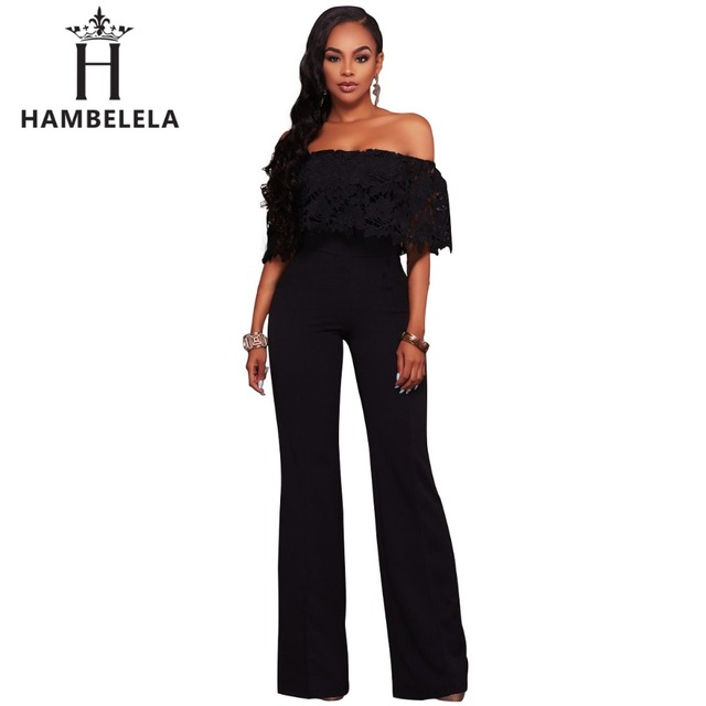 HAMBELELA Special Design 2017 Popular Short Sleeve Summer Rompers Sexy  Strapless Full Length Rompers Sexy Casual Rompers free shipping worldwide 994b2073b
