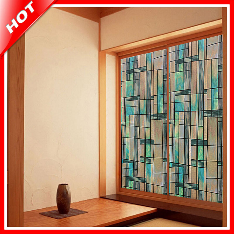 aliexpress : buy fashion 45*100cm lrrrgulra stained glass film