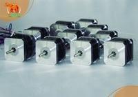 High Holding Torque! Wantai 10PCS CNC Nema 17 Stepper Motor 42BYGHW815 55N.cm 78oz in 48mm 1.5A Reprep DIY CNC Bipolar 4leads