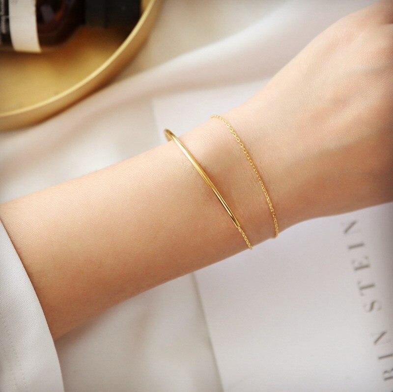 Двухслойный браслет YUN RUO Satomi Ishihara, модный элегантный подарок для женщин и девочек, ювелирное изделие цвета розового золота из титановой ста...