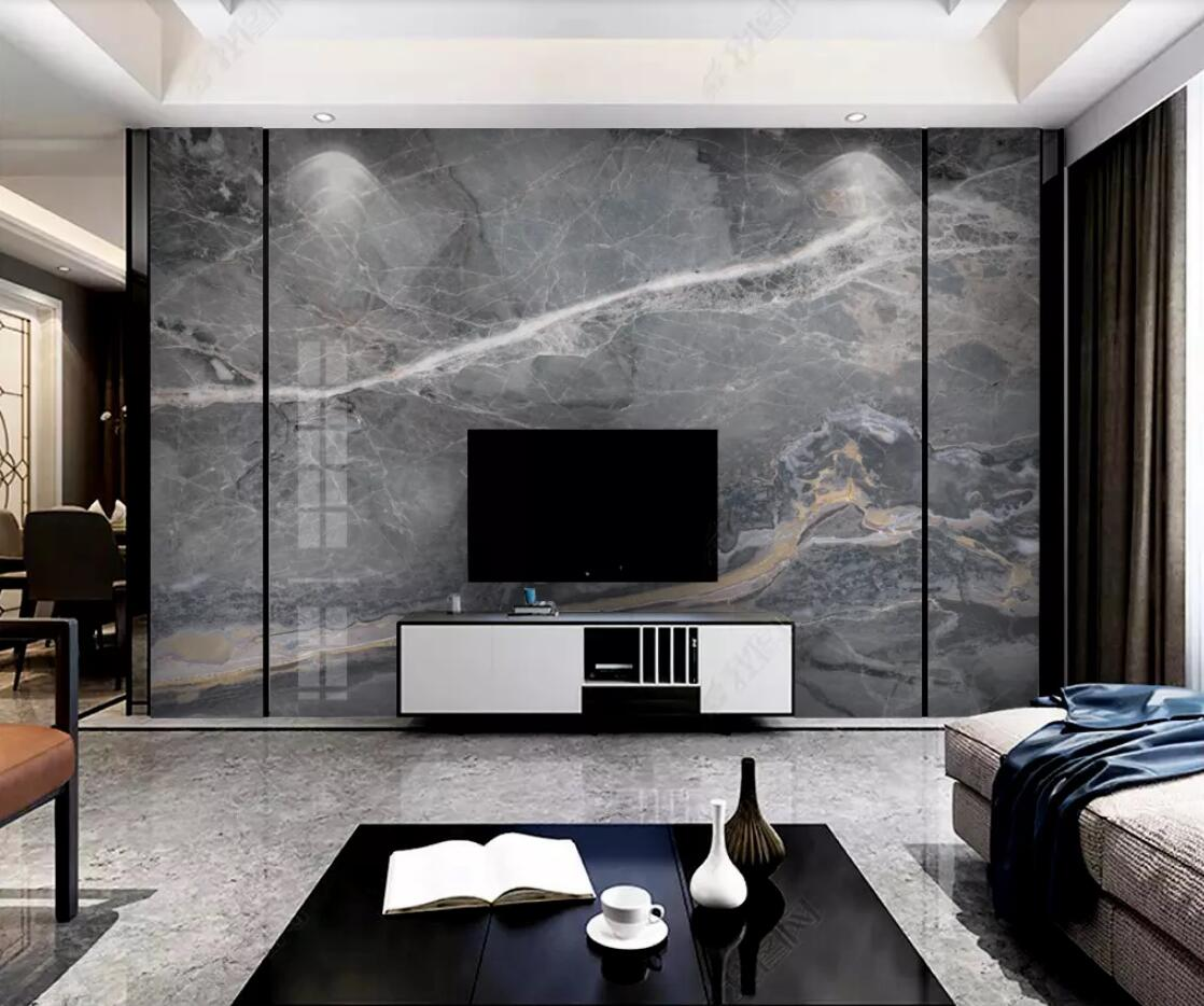 Black Marble Wallpaper Bedroom