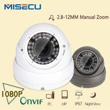 MISECU 2.0MP Cámara IP 1080 P IR 2.8-12 lente de zoom P2P HI3516C Plug & Play Onvif CCTV impermeable al aire libre Cámara IP vigilancia
