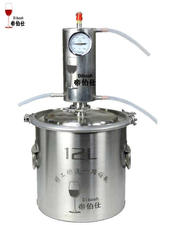 12L Moonshine Distiller Stainless steel High Vol Liqour Maker Brandy Vodka Whisky Machine Fermentation Barrel Home
