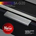 (4 pieces) 100mm VIBORG Modern Cabinet Cupboard Door Handles Pulls, Drawer Pulls Handles, Satin Nickel Brushed, SA-G20-100SS