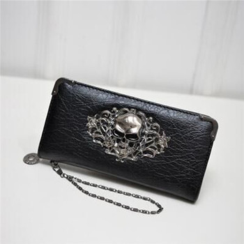 Women's Lace Skull Wallet Bags and Wallets Best Seller Hot Promotions Women's Wallets Color: Black