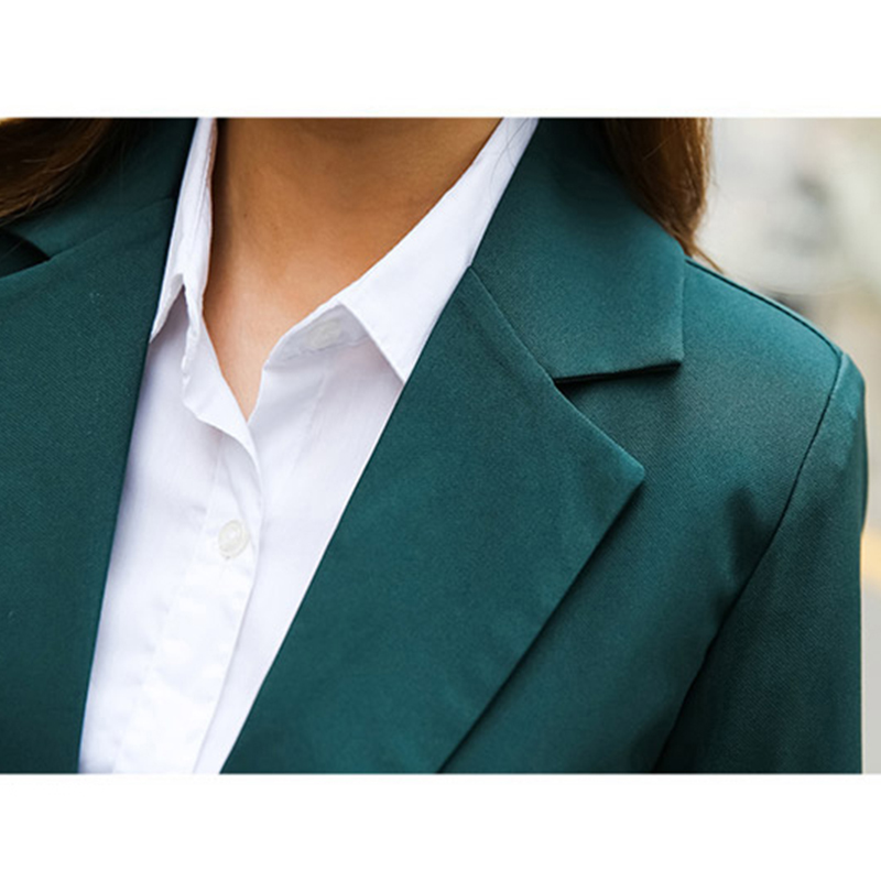 New Arrived Women Suit 2018 Fashion Slim Business Office OL Dark - Women's Clothing - Photo 4