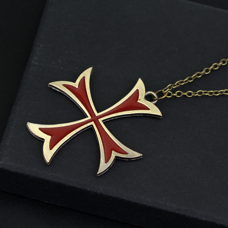 Hot game templar necklace assassins creed figure pendant bronze hot game templar necklace assassins creed figure pendant bronze plated gaes amulet pendant cross necklace pendants jewelry in pendant necklaces from jewelry mozeypictures Image collections