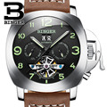Switzerland luxury watches men BINGER brand multifunctional military glowwatch Tourbillon Mechanical Wristwatches B1170-2