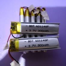 3,7 V 601148 061148P 601148P 3,7 V с защитной платой, используется для bluetooth MP3, MP4 литиевая батарея