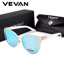 VEVAN Luxury Fashion Cat Eye Sunglasses Women Brand Designer 2018 Vintage UV400 Sun Glasses Female Mirror oculos Womens