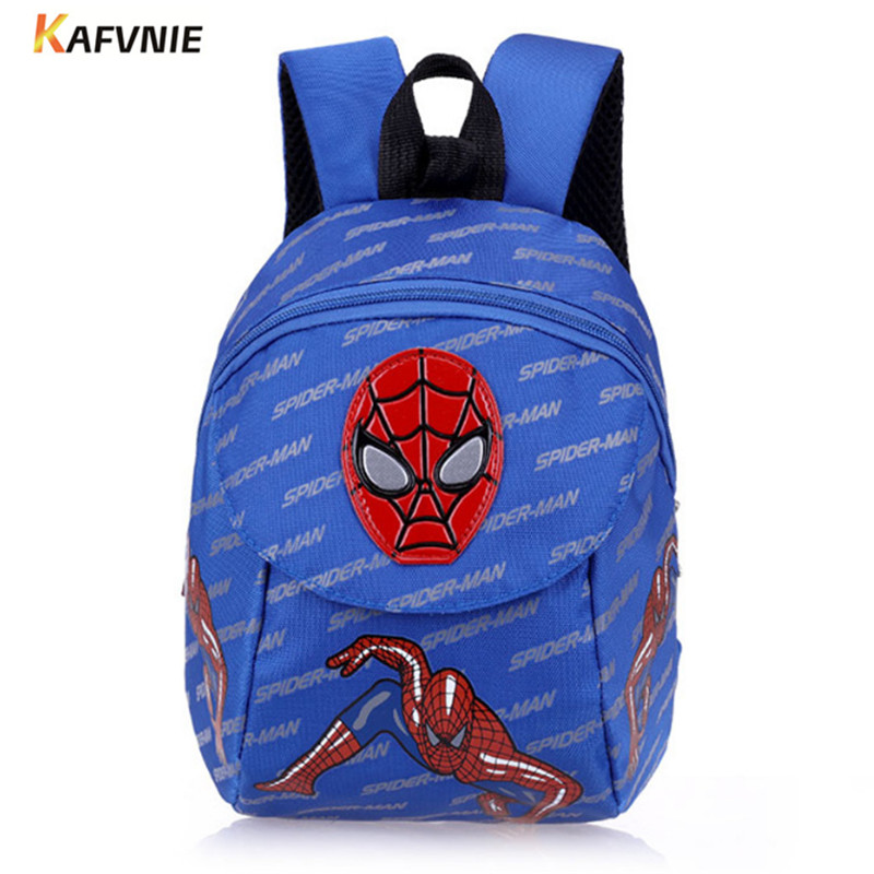 Aged 1-3 Nylon Toddler Backpacks Anti Lost Design Mini Spiderman Schoolbag Children School Bags kindergarten Girl Boys Backpack