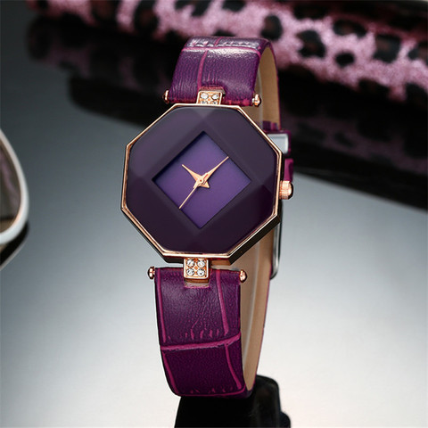high-quality 2017 new 5color jewelry watch fashion gift table women Watches Jewel gem cut black geometry quartz wristwatches Islamabad