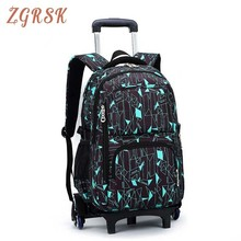 Latest Removable Children School Bags 2/6 Wheels Stairs Kids Boys Girls Trolley Schoolbag Luggage Book Bags Backpack Women kids boys girls trolley schoolbag luggage book bags backpack latest removable children school bags with 2 wheels stairs