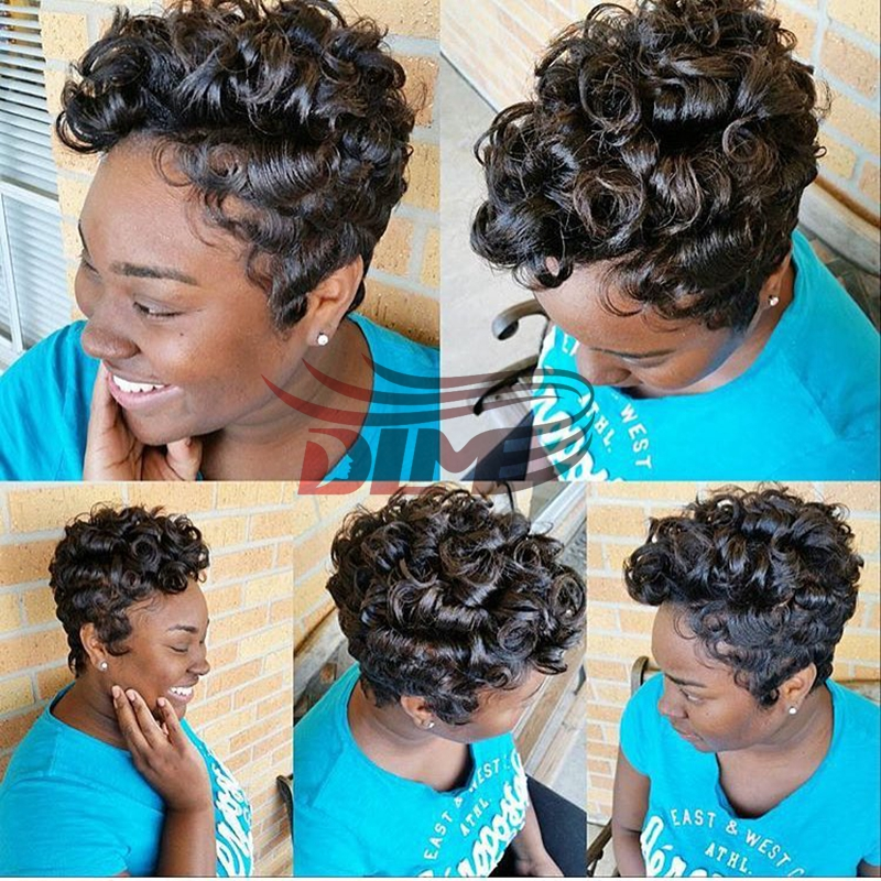 6 Quot Short Wigs For Black Women Pixie Cut Wigs Short Cheap