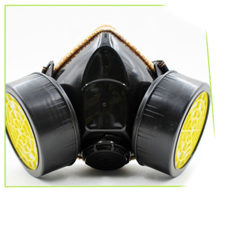 Hewolf Black Gas Mask With Goggles Emergency Survival Safety Respiratory Gas Mask Anti Dust Paint Respirator Mask Hot Outdoor Tools