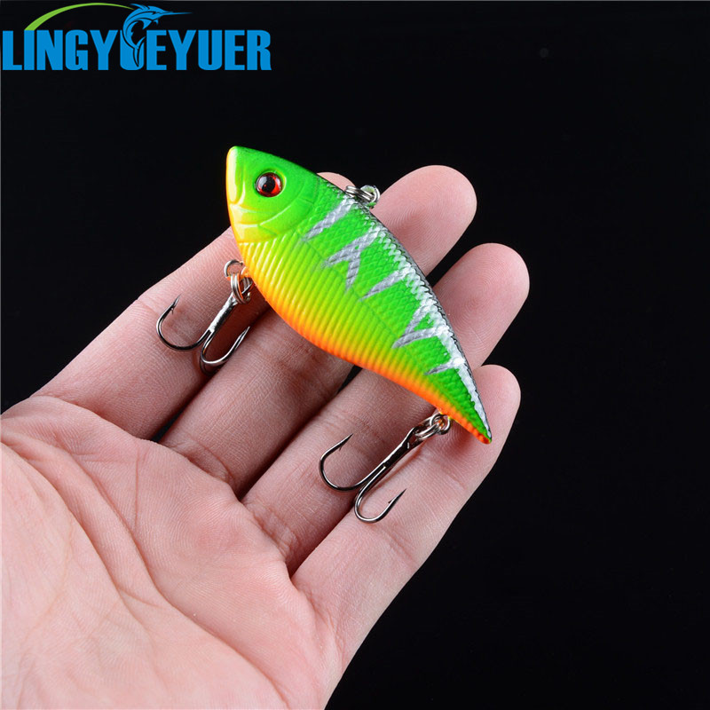 1pcs Hard Sinking Fishing VIB Lures 7cm 11g High Carbon Steel Treble Hooks Fishing Bait Variant Colors for Choose Fishing Tackle sealurer 5pcs fishing sinking vib lure 11g 7cm vibration vibe rattle hooks baits crankbaits 5 colors free shipping