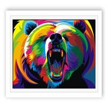 купить!  Животное Орел Медведь Плакаты Красочные Отпечатки Стены Искусства Холст Картины Nordic Картина для