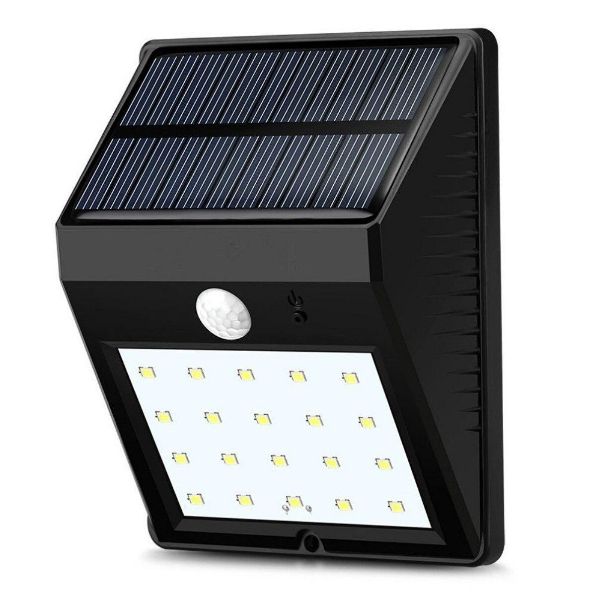Dcoo 20 LEDs Sensor de Movimento Solar Lâmpada Ao Ar Livre Decoração Do Jardim Lampada Luz Solar Jardim Levou Solaire Luz de Rua À Prova D' Água
